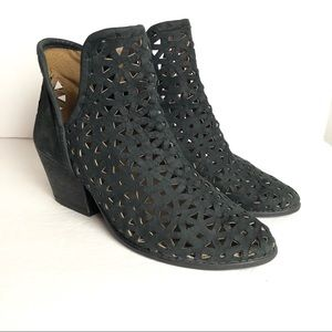 Musse & Cloud leather laser cut booties